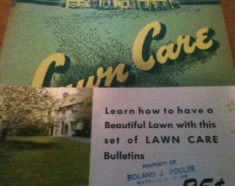 Lawn Care Pamphlet OM Scott 1948