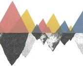 Mountains - A3 Print