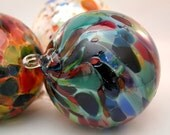 Handblown Fine Art Glass Ornament Suncatcher in Blue Magic Mix - 1 ea by Totally Blown Glass