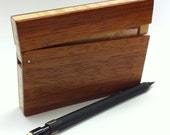 Padauk Wood Business Card Holder