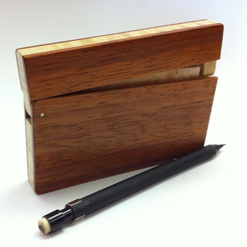 Padauk Wood Business Card Holder