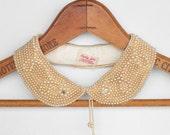 1960s Pearl & Rhinestone Beaded Collar