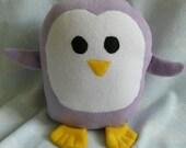 Plush Lavender Penguin Pillow Pal, Baby Safe, Machine Washable