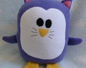 Plush Kitty Penguin Pillow Pal, Baby Safe, Machine Wash and Dry