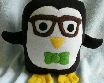 Plush Geek Penguin Pillow Pal, Baby Safe, Machine Washable
