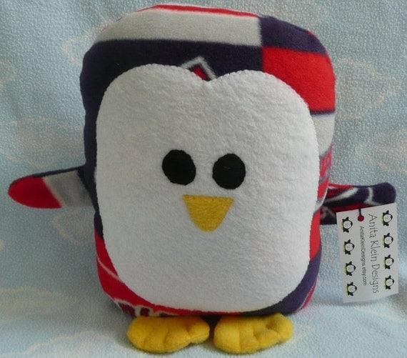Plush Cleveland Indians Penguin Pillow Pal, Baby Safe, Machine Washable
