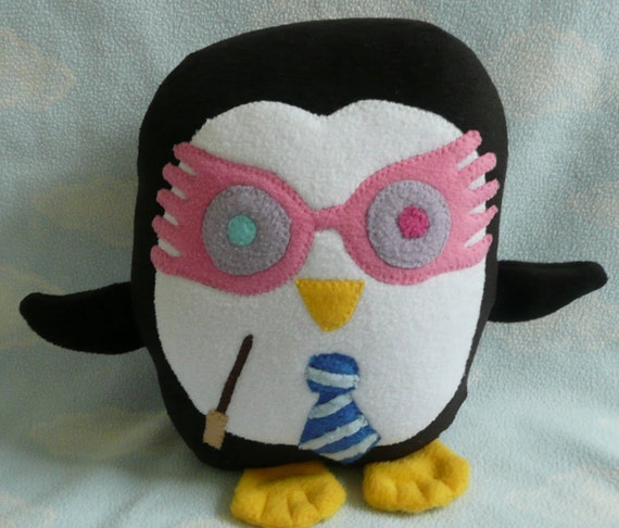 Plush Luna  Penguin Pillow, Baby Safe, Machine Wash and Dry
