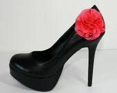 Shoe clips with coral flower