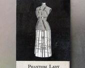 fridge magnet - Phantom Lady - ghost, goth art, dark art, scary, surreal, original collage art