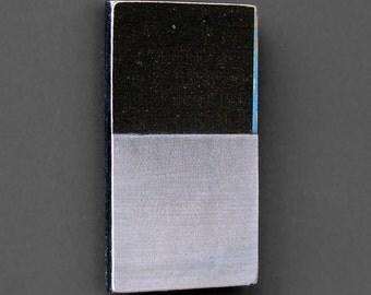fridge magnet - Shades of Grey - abstract art, minimalist art, original collage art