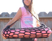 Yoga Mat Bag Hand Crocheted in Midnight Black