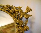 Beautiful Vintage Gilded Gold Vanity Mirror