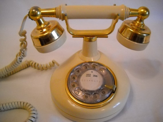 French Victorian Rotary Phone