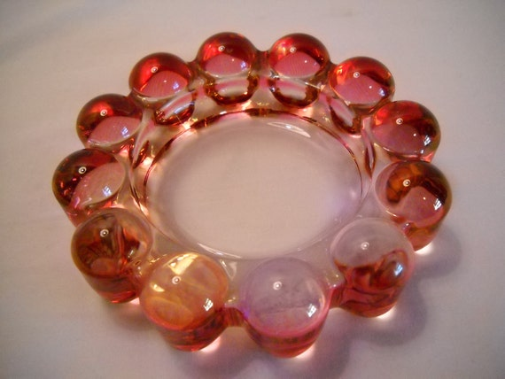 Vintage Bubble Glass Ashtray