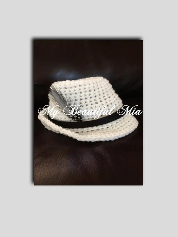 Crochet Fedora - Photo prop