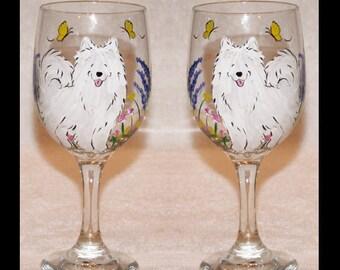 Samoyed wine Glasses CUSTOM