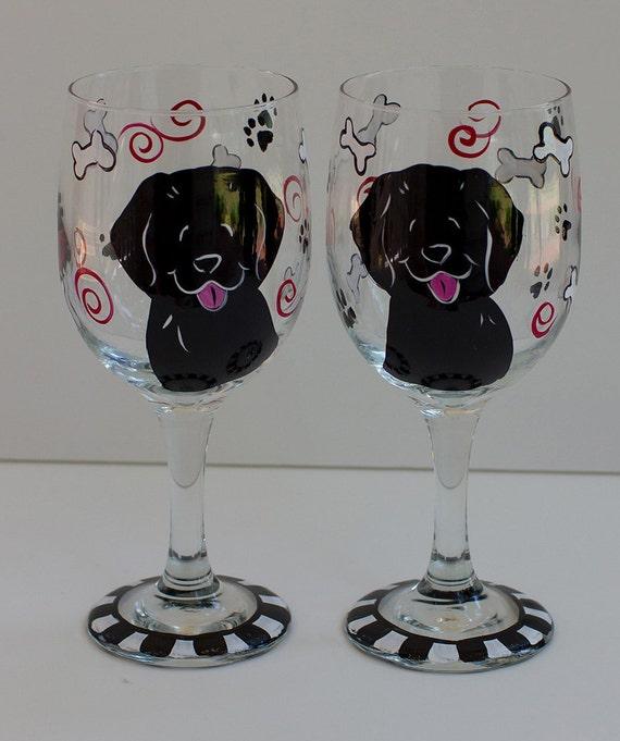 Black Lab Wine glasses