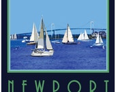 Wall Art, Newport Rhode Island Old Style Travel Poster