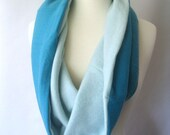 Cashmere Snood - Infinity Scarf Cowl and Capelet - Sea Foam and Turquoise Aqua : Upcycled Recycled Repurposed Fall Fashion