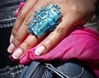 Turquoise Mosaic Ring