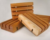 Five Handcrafted Cedar Soap Savers / Dishes/ Decks