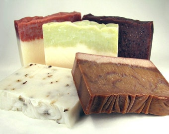 Cold Process Soap, Mix and Match, Your Choice, Handmade, 5 for 25
