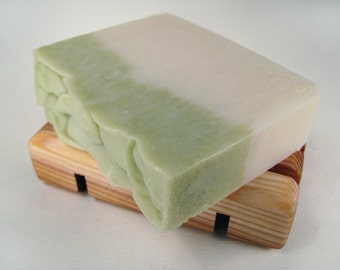 One Cold Process Soap and Handmade Cedar Soap Deck, Gift Set, Your choice, Handcrafted, Vegan