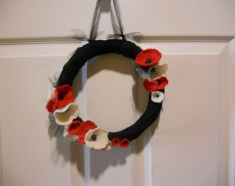 Felt Flower Wreath