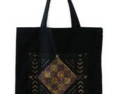 Return to Me customizable tote bag, black