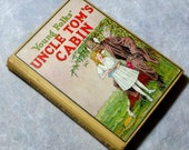1937 Young Folks Uncle Tom's Cabin, Vintage Book Adapted for Children, Illustrated