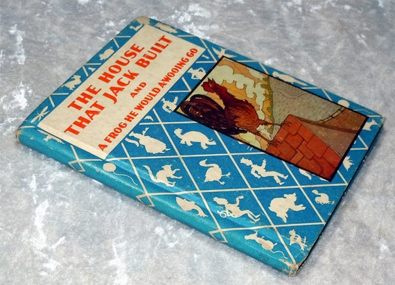 1936 The House That Jack Built, Rand McNally, Illustrated Antique / Vintage Children's Book