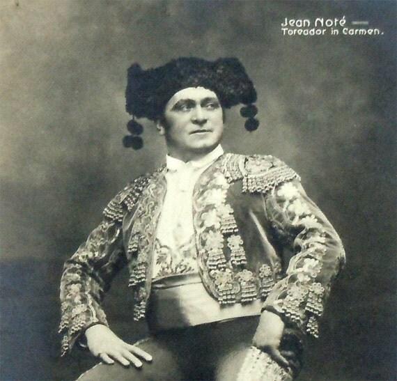 Vintage Jean-Baptiste Note - Belgian Opera Singer Real Photo Toreador Postcard c1915