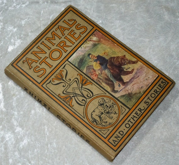 Animal Stories For Little People Vintage Children's Book c1910 - Illustrated