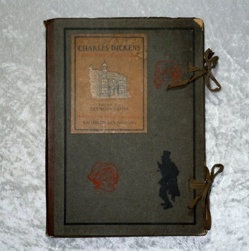 1900 Charles Dickens Rare Print Collection Connoisseur Folio