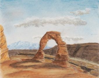 8x10 Delicate Arch Fine Art Giclee Print