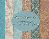 Digital Papers for scrapbooking, card making, Invites, photo cards - Set 19 - Personal and Commercial Use