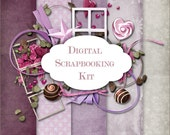 Digital Scrapbooking Kit - 013-  for scrapbooking, card & invintation making, photo cards - Personal and Commercial Use