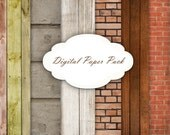Digital Papers - Set 46 - wood , bricks , rustic