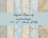 Digital Papers for scrapbooking, card making, Invites, photo cards - Set 16 - Personal and Commercial Use