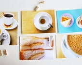 local tea & coffee breaks - set of 5 postcards