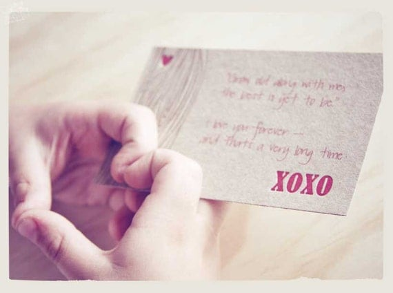 Valentine's Day, Letterpress xoxo love notelet cards: - kiss, hug, with faux bois - wood grain detail x4 - made in Australia