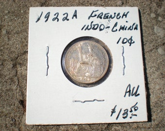 1922A French Indochina Indochine .10  Coin REDUCED