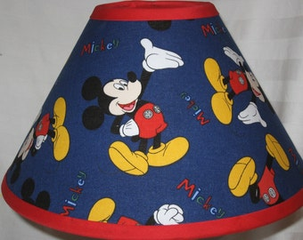 Disney Mickey Mouse Blue Fabric Childrens Lamp Shade