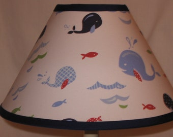 Jackson Whale Fabric Lamp Shade M2M Pottery Barn Kids