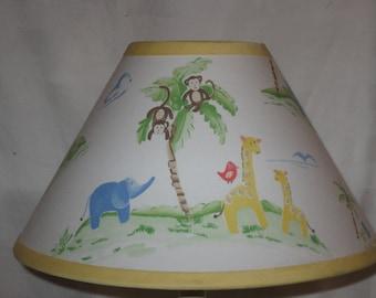 Jungle Friends Fabric Nursery Lamp Shade M2M Pottery Barn Kids