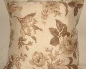 Fleur Cushion- Truffle and Mocca