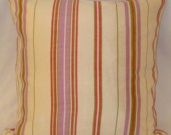 Pastel, Decorative, Accent Pillow- Springtime Stripe Cushion