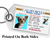 Driver's License Pet ID Tag