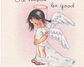 M310 Vintage Birthday Greeting Card  by Brownie - Angel