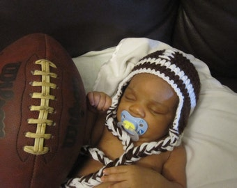 Crochet baby Football hat-photo prop-baby shower-accessories